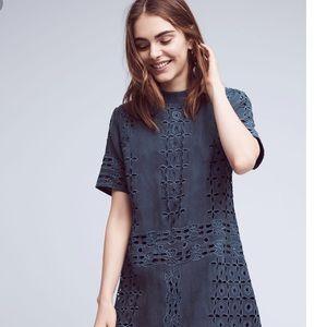 Anthropologie KAS New York Blue Midi Dress -size 4